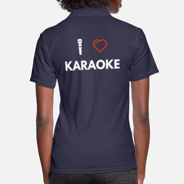 I Heart Karaoke i love karaoke - Women's Polo Shirt