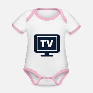 Television television - Organic Baby Contrasting Bodysuit