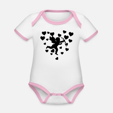 Cupido Cupid Shirt · Couple in Love · Heart Gift - Organic Baby Contrasting Bodysuit
