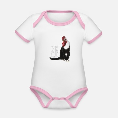 Be Different Be different - be different - Organic Contrast Baby Bodysuit