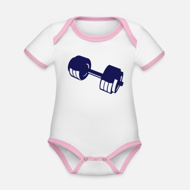 Lifting weight lifting bodybuilding weight 10405 - Organic Contrast Baby Bodysuit