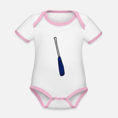 Screwdriver screwdriver - Organic Contrast Baby Bodysuit