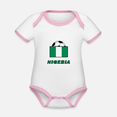 National Team NIGERIA national team design - Organic Baby Contrasting Bodysuit