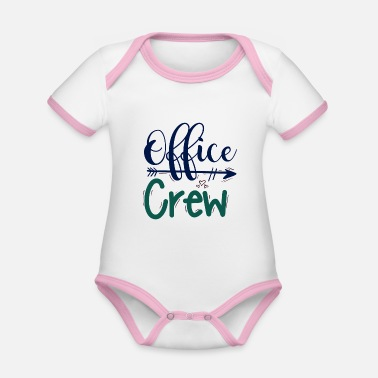 The Office office crew office team - Organic Contrast Baby Bodysuit