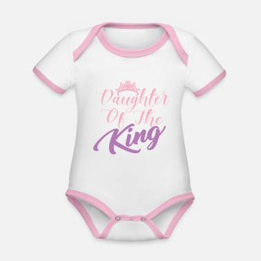 Daughter DAUGHTER OF THE KING - Organic Contrast Baby Bodysuit