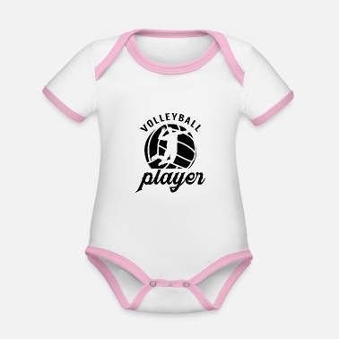 Club Volleyball Volleyball Team Volleyball volleyball volleyball player team - Organic Contrast Baby Bodysuit