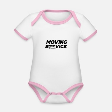 Move Moving Service Moving Moving Company Moving - Organic Contrast Baby Bodysuit