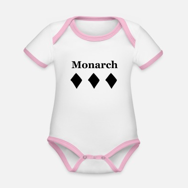 Monarchie Monarch - Le dessin royal - Body Bébé bio contrasté