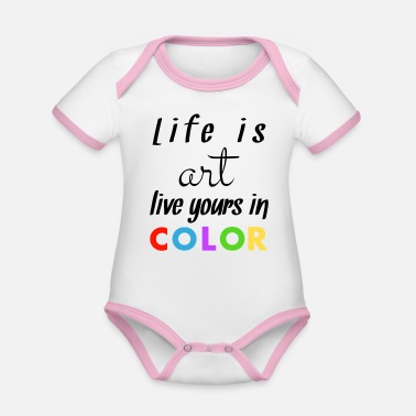 Colourful Coloured - Organic Contrast Baby Bodysuit