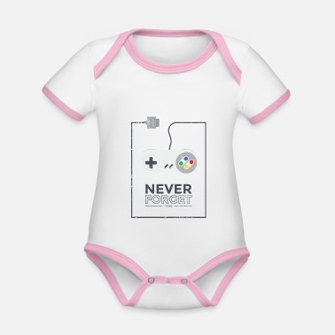 Retro Joystick Gaming Gift for Professional Gamer - Organic Contrast Baby Bodysuit