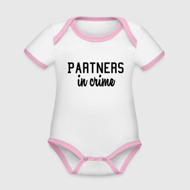 Partner partners in crime - Organic Baby Contrasting Bodysuit