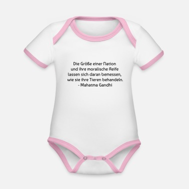 With Quotes Gandhi quote - Organic Contrast Baby Bodysuit