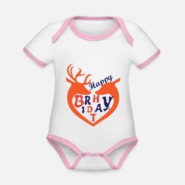 Happy Birthday Happy Birthday, Happy Birthday - Organic Contrast Baby Bodysuit