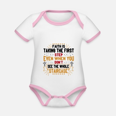 First Faith is taking the first step - Organic Contrast Baby Bodysuit