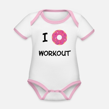 Workout Je Donut Workout - Body Bébé bio contrasté manches courtes