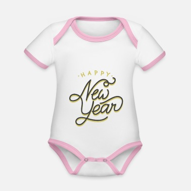 New Year 2020 - Organic Contrast Baby Bodysuit