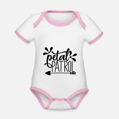 Bride petal patroll - wedding design - Organic Contrast Baby Bodysuit