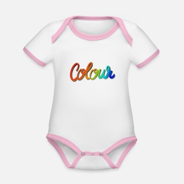 Color Color colorful - Organic Contrast Baby Bodysuit