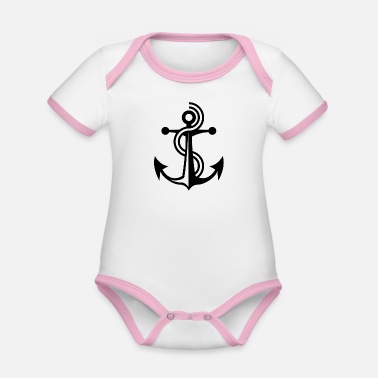 Anchor anchor - Organic Baby Contrasting Bodysuit