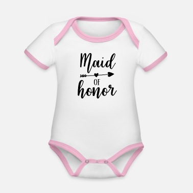 Maid Of Honor Maid of Honor - Organic Contrast Baby Bodysuit