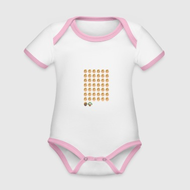 Us History of the US Presidents US Presidents - Organic Baby Contrasting Bodysuit