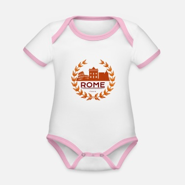 Rome Wolf Rome Roma Italy - Organic Contrast Baby Bodysuit