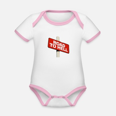 Road To Hell Road to hell - Organic Contrast Baby Bodysuit