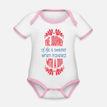 Journey The Journey - Organic Contrast Baby Bodysuit