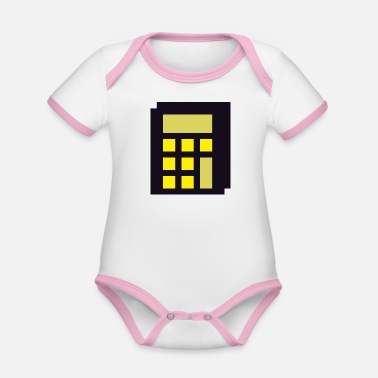 High-rise Building High-rise at night abstract - Organic Contrast Baby Bodysuit