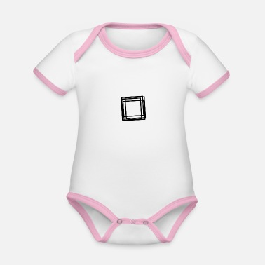 Abstract abstract - Organic Contrast Baby Bodysuit
