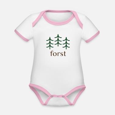 5873049c36d422 Förster Natur Wald Förster - Baby Bio Kurzarmbody zweifarbig