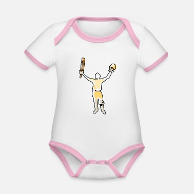 Pakistan South African cricket eraseplayers - Organic Contrast Baby Bodysuit