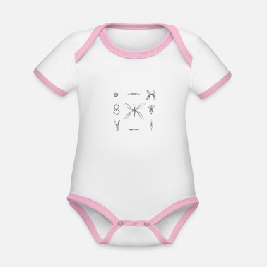 Insect insects - Organic Contrast Baby Bodysuit