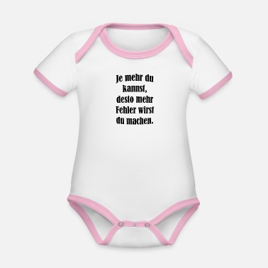 Cool Sayings cool sayings - Organic Contrast Baby Bodysuit