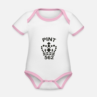 Pint Imperial Pint - Organic Contrast Baby Bodysuit