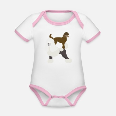 Poodle Poodle on poodle - Organic Baby Contrasting Bodysuit