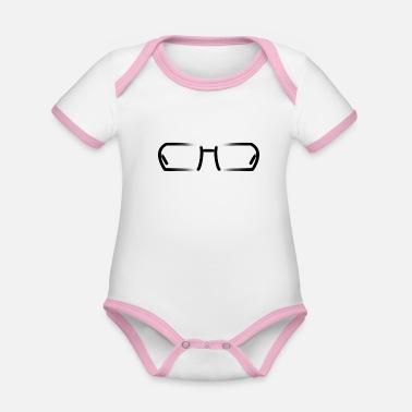 Lunettes lunettes - Body Bébé bio contrasté manches courtes b2a91afdd634