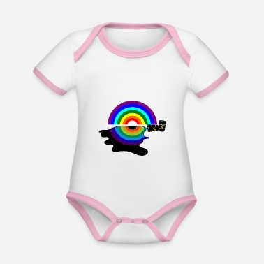 Oil Spill Oil Pollution - Organic Contrast Baby Bodysuit