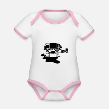 Oil Spill OIL SPILL POLLUTION OIL FUEL POLLUTION - Organic Contrast Baby Bodysuit