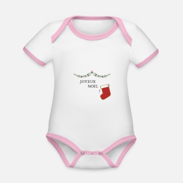 Baby clothes (CHRISTMAS) - Organic Contrast Baby Bodysuit