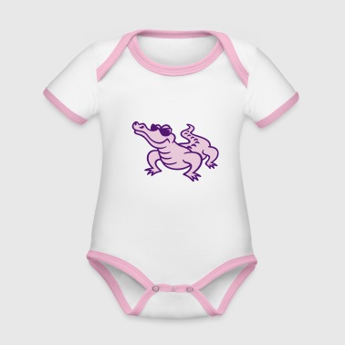 croco cool (a) - Organic Baby Contrasting Bodysuit