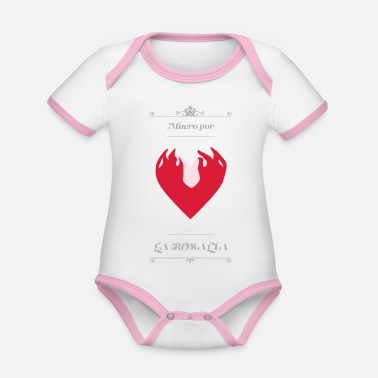 Cleavage Heart I die for Rosalia - Organic Contrast Baby Bodysuit