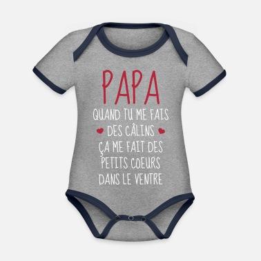 Papa - Fête des Pères - Bébé - Naissance - Baby Body bébé bio ... 8068e06f06c