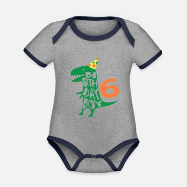 Years Birthday Boy 6 Years Old - Organic Contrast Baby Bodysuit