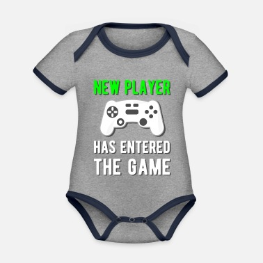 Game New player has entered the game! - Baby Bio Kurzarmbody zweifarbig