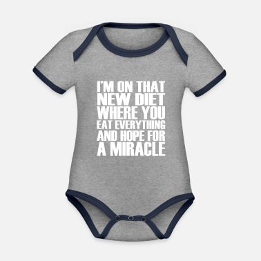 Funny funny funny sayings - Organic Contrast Baby Bodysuit