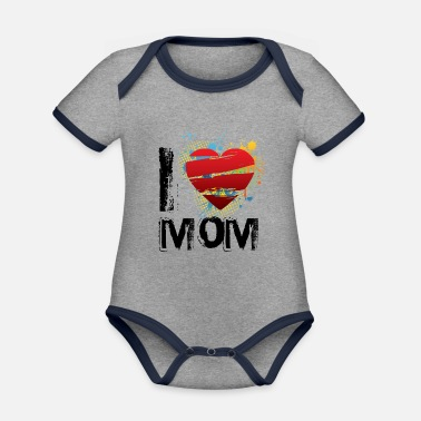 I Love I love mom uk - Organic Contrast Baby Bodysuit