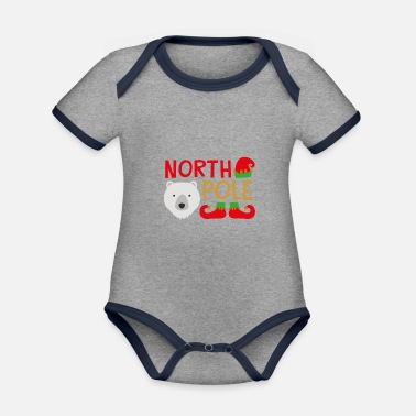 North Yorkshire North Pole - Organic Contrast Baby Bodysuit