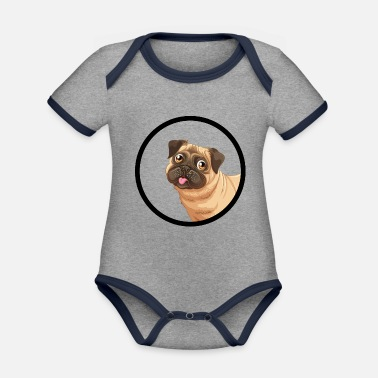 Dogs Dog dogs dog - Organic Contrast Baby Bodysuit