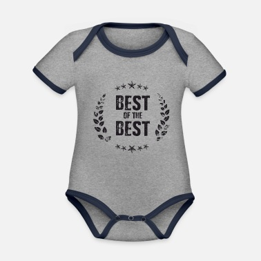 Best Of Best of the Best - Ekologisk kontrastfärgad babybody